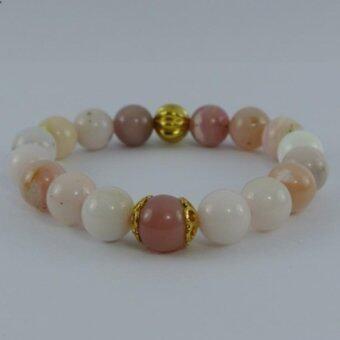 Pearl Jewelry กำไลหินโอปอชมพู A19