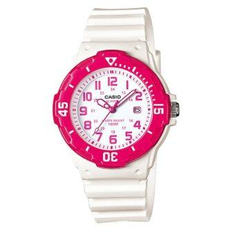 CASIO standard นาฬิกาข้อมือ sport Lady รุ่น LRW-200H-4BVDF - White/Pink