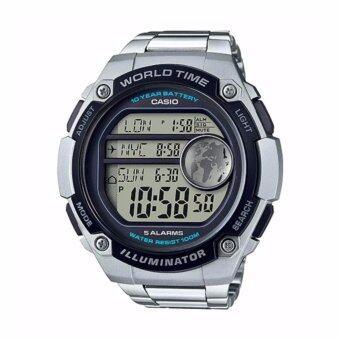 Casio Standard นาฬิกาข้อมือผู้ชาย สายสแตนเลส รุ่น AE-3000WD-1AVDF