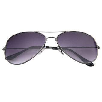 เลนส์กระจกแว่นตากันแดดรุ่นนักบินเรโทรสีดำ
