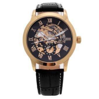 SHENHUA สเตนเลสเครื่องหนังนาฬิกาออโตเมติกรัด (สีดำ)