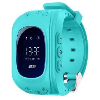 Leegoal นาฬิกาข้อมือนาฬิกาเด็กเอสโอเอสโทรตู้ GPS/GSM ต้ายหายนาฬิกาสมาร์ทสำหรับเด็ก สีน้ำเงิน
