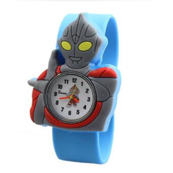 แฟชั่นนาฬิกาเวอร์ชันการ์ตูนเด็กถามคุณภาพสูงอุลตราแมนนาฬิกาข้อมือฟ้าอ่อน
