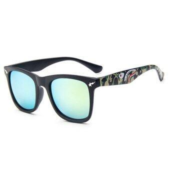 Man style Sunglasses แว่นตากันแดด รุ่น 15929 C3 (Gold/Black)