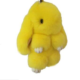 Harga 13Cm Rabbit Furs Keychain Pendant Bag Cute Mini Rabbit Toy Doll Yellow