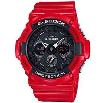 Casio G-Shock นาฬิกาข้อมือผู้ชาย สายเรซิ่น รุ่น GA-201RD-4A - สีแดง/ดำ