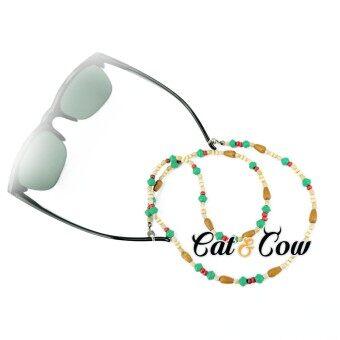 Cat & Cow รุ่น WE1, #สายคล้องแว่นตา Eyewear Retainer สีนำตาล + เขียว