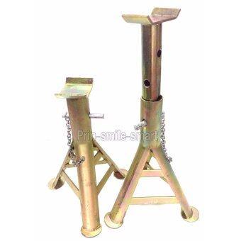 SMART TOOLS ขาตั้งยกรถ 3 ขา ขนาดกลาง (สีทอง) เหล็กหนา / 1 คู่