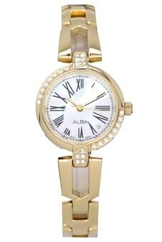 Alba นาฬิกาข้อมือผู้หญิง สีทอง สายสแตนเลส รุ่น AH7798X1