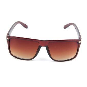 เพศชายหญิงแฟชั่นวินเทจ...ติดแว่นกันแดดแว่นตาเรโทรหมุดสีน้ำตาล