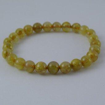 Pearl Jewelry กำไลหินไหมทอง A26