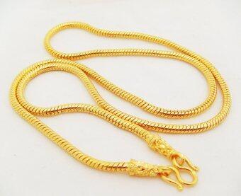 Thai Jewelry สร้อยคอทอง งานชุบทองไมครอน ชุบด้วยเศษทองคำแท้ 96.5 % หนัก 4 บาท ยาว 24 นิ้ว