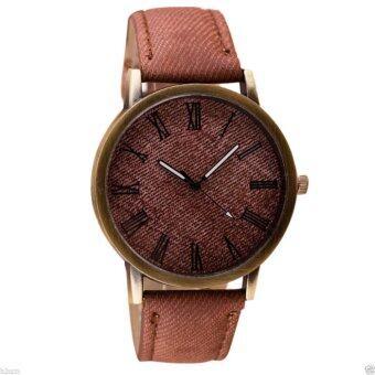 นาฬิกาข้อมือแฟชั่น Retro Analog Quartz สายหนังเทียม