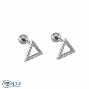 จิวหู สามเหลี่ยม โปร่ง 8 มิล