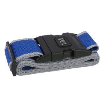 TravelGear24 สายรัดกระเป๋าเดินทาง พร้อมรหัสล็อก Travel Luggage Belt Suitcase Strap - น้ำเงินเทา/Blue-Grey