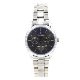 OSHRZO Date Quartz นาฬิกาข้อมือผู้หญิง ระบบวันที่ รุ่น WP8084 (Silver/Blue)