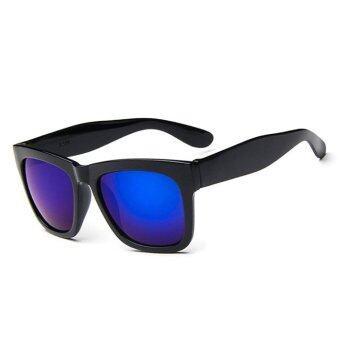 แฟชั่นแว่นตากันแดดกรอบใหญ่สาวเรโทรแว่นตากันแดด (สีน้ำเงินสีดำ)