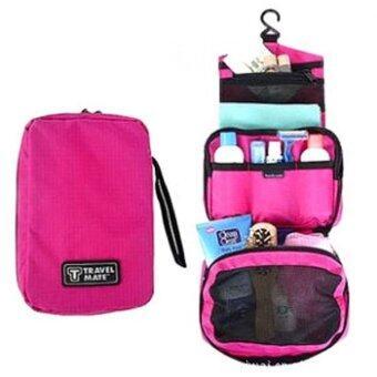 GJP กระเป๋าใส่อุปกรณ์อาบน้ำ เครื่องสำอางค์ อเนกประสงค์ - Pink