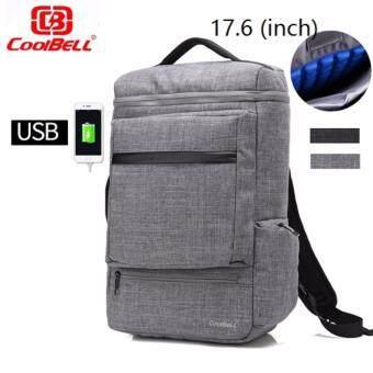 coolbell 17.6กระเป๋าเป้นิรภัยแล็ปท็อป Bobby Bag (สีเทา)