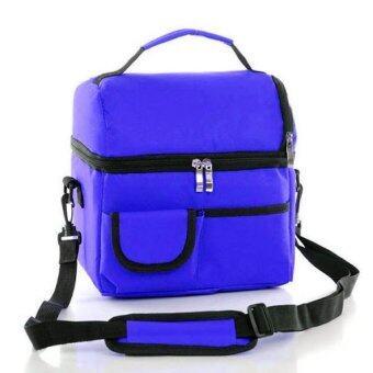 Coolbag กระเป๋าเก็บความเย็นปิคนิก สีน้ำเงิน