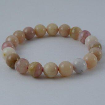 Pearl Jewelry กำไลหินพิงค์โอปอล A28