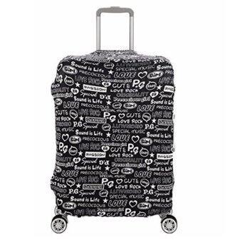 Merc Gears Luggage Cover S18-20นิ้ว ผ้าคลุมกระเป๋าเดินทาง ผ้ายืดหยุ่นได้ดี ผ้าคลุมกันเปื้อนและป้องกันการขีดข่วน(ลาย graffiti alphabet)