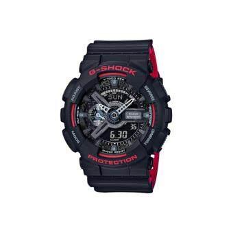 CASIO G-SHOCK รุ่น GA-110HR-1ADR (CMG) นาฬิกาข้อมือ สายเรซิ่น สีดำ แดง