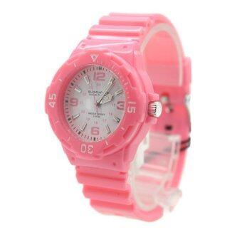 Submariner นาฬิกาข้อมือผู้หญิงและเด็ก สายยาง ระบบเข็ม - S0017 (Pink)