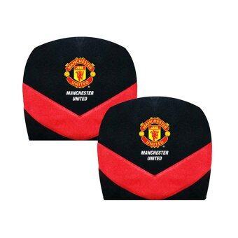 Manchester United ที่หุ้มหัวเบาะรถยนต์ Man U Brave V (สีดำแดง) แพคคู่