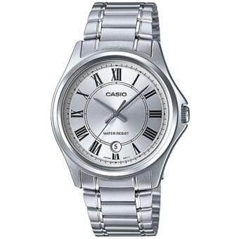 CASIO Standard นาฬิกาข้อมือผู้ชาย สีเงิน สายสแตนเลส รุ่น MTP-1400D-7ADF