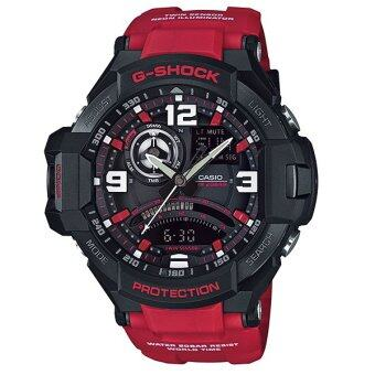Casio G-Shock GRAVITYMASTER นาฬิกาข้อมือ สีดำ/สีแดง สายเรซิ่นสาย รุ่น GA-1000-4B