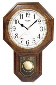 RHYTHM นาฬิกาแขวน รุ่น CMJ443-NR06 (สีน้ำตาล)