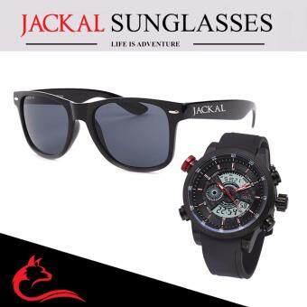 นาฬิกาข้อมือ Jackal Watch รุ่น Marble Fox J004 และ แว่นกันแดด Jackal Sunglasses รุ่น Traveller JS001