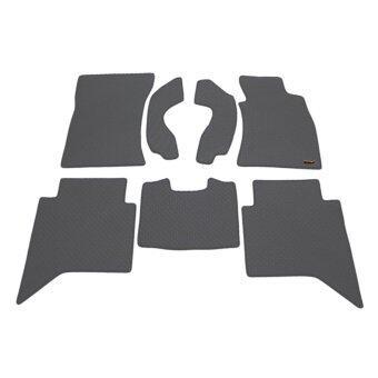 Matpro พรมปูพื้นเข้ารูป 100% ลายกระดุม ชุด Standard Set 7 ชิ้น TOYOTA Vigo 4 ประตู 2013 (Grey)