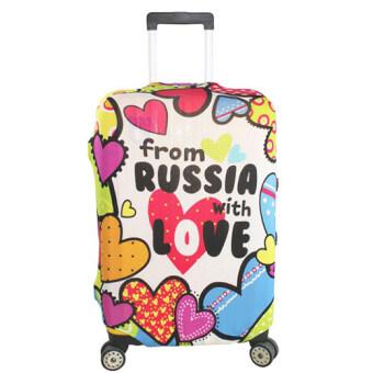 ผ้าคลุมกระเป๋าเดินทางแบบยืดลายหัวใจสีสด MyTrip S/M/L