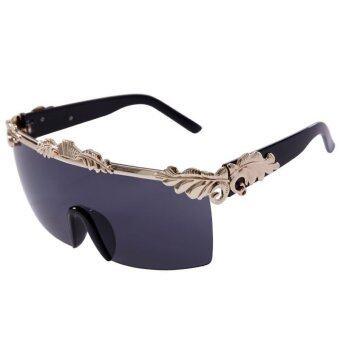 ซูเปอร์ลักชัวรี Anna กร็อตรุสโซแว่นตากันแดดยี่ห้อออกแบบเสื้อสตรีเจ๋งแบนไอ้แว่นตาแว่นตากันแดดสตีมพังก์ใหญ่กับโซ่แรงม้า 205 ที่ 05 (สีเทา)