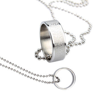 ใหม่คน/ผู้หญิงเท่แหวนสร้อยคอจี้ตัดโซ่
