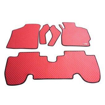 Matpro พรมปูพื้นเข้ารูป 100% ลายกระดุม ชุด Standard Set 5 ชิ้น - TOYOTA YARIS รุ่น E - สีแดง