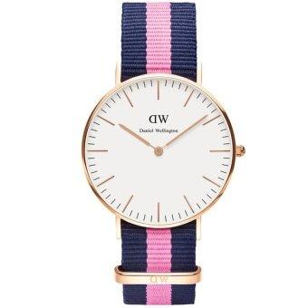 Daniel Wellington 0505DW Classic Winchester 36mm นาฬิกาข้อมือ แฟชั่น ผู้หญิง สายนาโต้ ไนล่อน สีชมพู Women Watch - Pink
