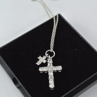 Pearl Jewelry สร้อยคอ จี้ไม้กางเขน เงินแท้ 925