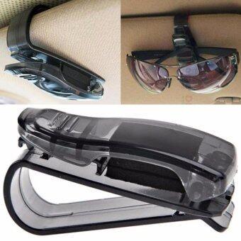 ที่เก็บแว่นตาในรถยนต์ คลิปหนีบแว่นตาเอนกประสงค์ (สีดำ)
