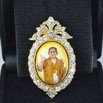 Pearl Jewelry เข็มกลัดในหลวง PK14 งานช่างไทยคุณภาพดี(Gold)