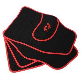 ครอบจักรวาล 4ชิ้นหน้าหลังพื้นเสื่อพรมพีวีซีรถลื่นมือเท้ารูปแบบใหม่สีแดง