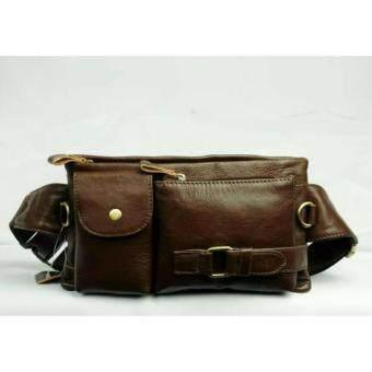 SAPA กระเป๋าคาดอกคาดเอว หนังแท้ ใช้ได้ทุกเภททุกวัย รุ่น SPF18