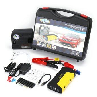 Harga CAR Jump Starter Power Bank 50-800 mAh 12-19 V Muli-Function (Yellow/Black) ฟรี ปั๊มลม มูลค่า 300 บาท