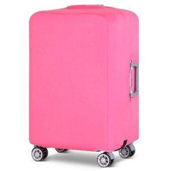 ผ้าคลุมกระเป๋าเดินทางแบบยืดเวอร์ชั่นใหม่เพิ่มความหนาหูหิ้วขวา S18-20'(สีชมพู)(Pink)