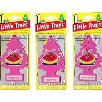 Little Trees® แผ่นน้ำหอมปรับอากาศ รูปต้นไม้ กลิ่น Watermelon จำนวน 3 ชิ้น