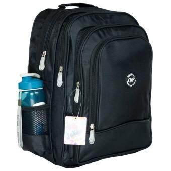 Wheal กระเป๋าเป้สะพายหลัง กระเป๋าเป้นักเรียน กระเป๋าสะพายเด็ก 16 นิ้ว รุ่น W06516 (ฺBlack)