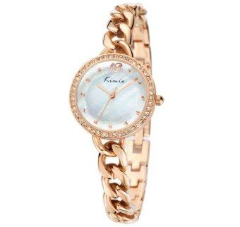 Kimio นาฬิกาข้อมือผู้หญิง สีพิงค์โกล์ด สายสแตนเลส รุ่น KW6035