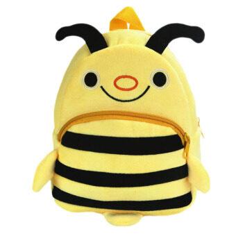 ภาพการ์ตูนสัตว์เล็ก ๆ น้อย ๆ รูปแบบกระเป๋านักเรียนโรงเรียนกระเป๋าเป้กระเป๋าผ้าสีเหลืองผึ้ง